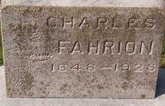 FAHRION, CHARLES - Black Hawk County, Iowa | CHARLES FAHRION