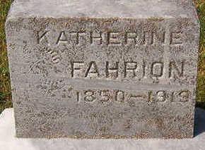 FAHRION, KATHERINE - Black Hawk County, Iowa   KATHERINE FAHRION