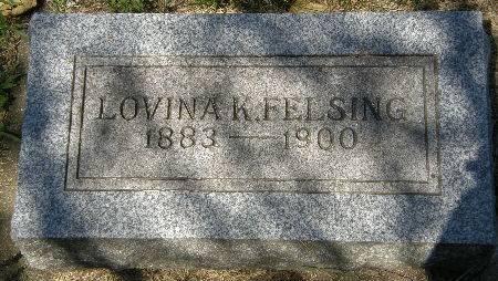 FELSING, LOVINA K. - Black Hawk County, Iowa | LOVINA K. FELSING