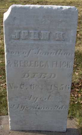 FLICK, JOHN K. - Black Hawk County, Iowa   JOHN K. FLICK