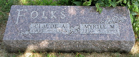 FOLKS, MYRTLE M. - Black Hawk County, Iowa | MYRTLE M. FOLKS