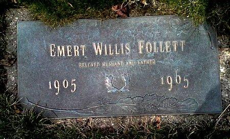 FOLLETT, EMERT WILLIS - Black Hawk County, Iowa | EMERT WILLIS FOLLETT