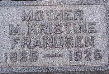 FRANDSEN, M. KRISTINE - Black Hawk County, Iowa   M. KRISTINE FRANDSEN