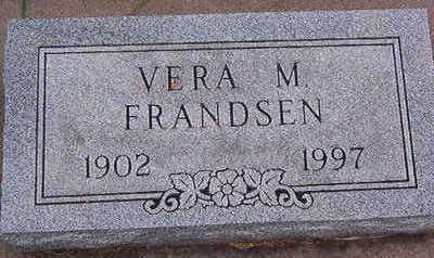 FRANDSEN, VERA M. - Black Hawk County, Iowa | VERA M. FRANDSEN