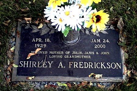 FREDRICKSON, SHIRLEY A. - Black Hawk County, Iowa | SHIRLEY A. FREDRICKSON