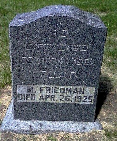 FRIEDMAN, M. - Black Hawk County, Iowa | M. FRIEDMAN