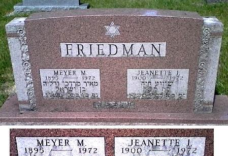 FRIEDMAN, JEANETTE I. - Black Hawk County, Iowa | JEANETTE I. FRIEDMAN