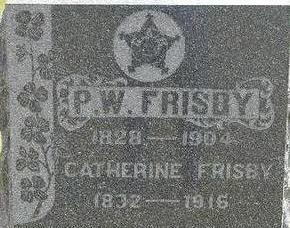 FRISBY, P.W. - Black Hawk County, Iowa   P.W. FRISBY