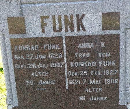 FUNK, KONRAD - Black Hawk County, Iowa   KONRAD FUNK