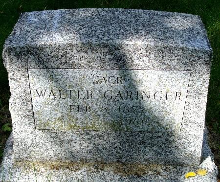 GARINGER, WALTER
