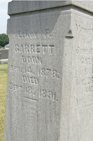 GARRETT, LEROY F. - Black Hawk County, Iowa   LEROY F. GARRETT