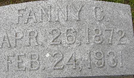 GATES, FANNY C. - Black Hawk County, Iowa | FANNY C. GATES