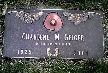 GEIGER, CHARLENE M. - Black Hawk County, Iowa   CHARLENE M. GEIGER