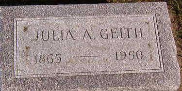 GEITH, JULIA A. - Black Hawk County, Iowa   JULIA A. GEITH