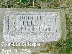 GILLESPIE, JOHN LEE - Black Hawk County, Iowa | JOHN LEE GILLESPIE