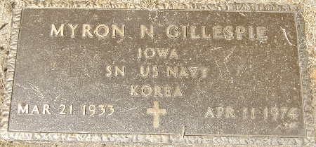 GILLESPIE, MYRON N. - Black Hawk County, Iowa   MYRON N. GILLESPIE