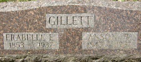 GILLETT, ANSON W. - Black Hawk County, Iowa | ANSON W. GILLETT