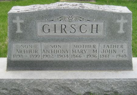 GIRSCH, ARTHUR - Black Hawk County, Iowa | ARTHUR GIRSCH