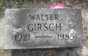 GIRSCH, WALTER - Black Hawk County, Iowa | WALTER GIRSCH