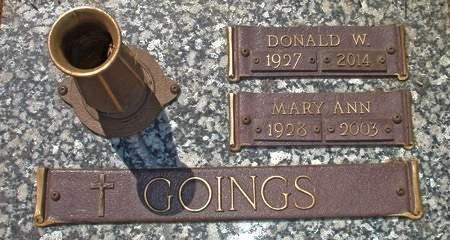 GOINGS, MARY ANN - Black Hawk County, Iowa | MARY ANN GOINGS