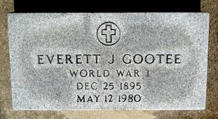 GOOTEE - WORLD WAR I, EVERETT J. - Black Hawk County, Iowa | EVERETT J. GOOTEE - WORLD WAR I