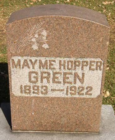 HOPPER GREEN, MAYME - Black Hawk County, Iowa | MAYME HOPPER GREEN