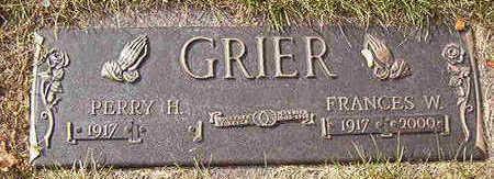 GRIER, FRANCES W. - Black Hawk County, Iowa   FRANCES W. GRIER