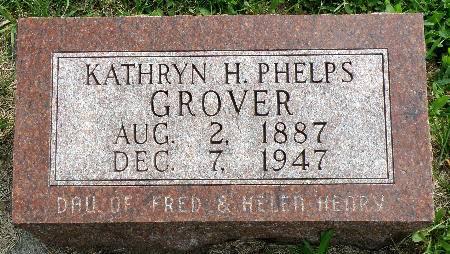 PHELPS GROVER, KATHRYN H. - Black Hawk County, Iowa | KATHRYN H. PHELPS GROVER
