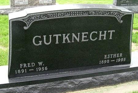 MATZEN GUTKNECHT, ESTHER - Black Hawk County, Iowa   ESTHER MATZEN GUTKNECHT