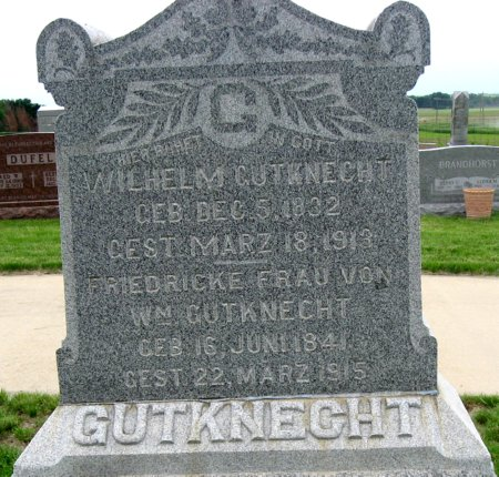 SPONHOLZ GUTKNECHT, FRIEDRICKE - Black Hawk County, Iowa   FRIEDRICKE SPONHOLZ GUTKNECHT