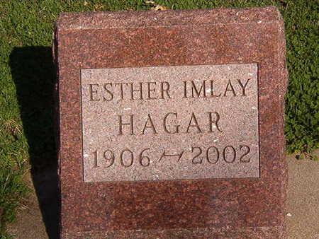 HAGER, ESTHER IMLAY - Black Hawk County, Iowa | ESTHER IMLAY HAGER