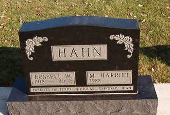 HAHN, RUSSELL  W. - Black Hawk County, Iowa | RUSSELL  W. HAHN