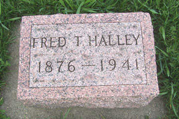 HALLEY, FRED T. - Black Hawk County, Iowa   FRED T. HALLEY