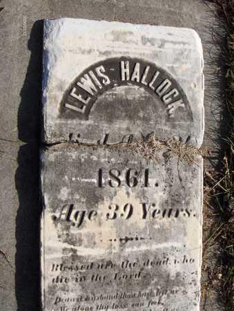 HALLOCK, LEWIS - Black Hawk County, Iowa | LEWIS HALLOCK