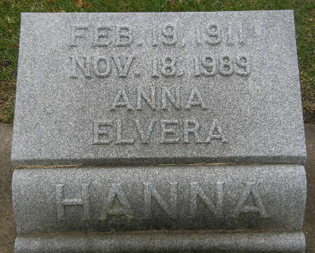 HANNA, ANNA ELVERA - Black Hawk County, Iowa | ANNA ELVERA HANNA