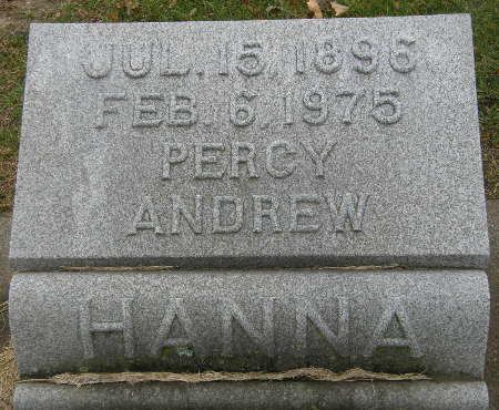 HANNA, PERCY ANDREW - Black Hawk County, Iowa | PERCY ANDREW HANNA