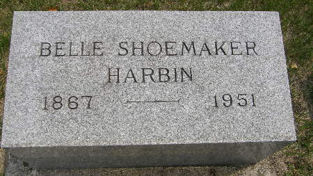 SHOEMAKER HARBIN, BELLE - Black Hawk County, Iowa | BELLE SHOEMAKER HARBIN