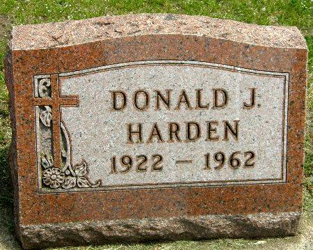 HARDEN, DONALD J. - Black Hawk County, Iowa | DONALD J. HARDEN