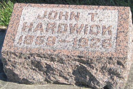 HARDWICK, JOHN T - Black Hawk County, Iowa | JOHN T HARDWICK