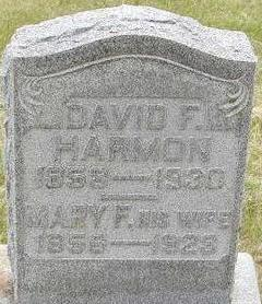 HARMON, MARY F. - Black Hawk County, Iowa | MARY F. HARMON