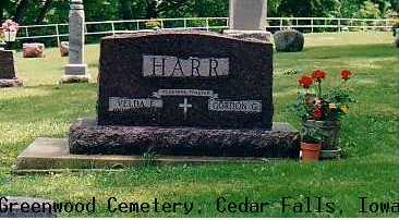 HARR, GORDON G. & VELDA - Black Hawk County, Iowa | GORDON G. & VELDA HARR