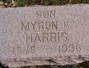 HARRIS, MYRON G. - Black Hawk County, Iowa | MYRON G. HARRIS