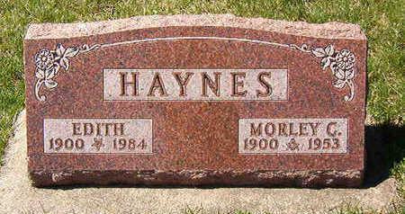 HAYNES, MORLEY C. - Black Hawk County, Iowa   MORLEY C. HAYNES