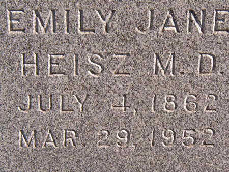 HEISZ, M.D., EMILY JANE - Black Hawk County, Iowa   EMILY JANE HEISZ, M.D.