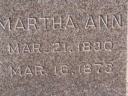 HEISZ, MARTHA ANN - Black Hawk County, Iowa | MARTHA ANN HEISZ