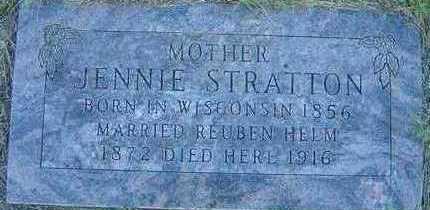 STRATTON HELM, JENNIE - Black Hawk County, Iowa | JENNIE STRATTON HELM