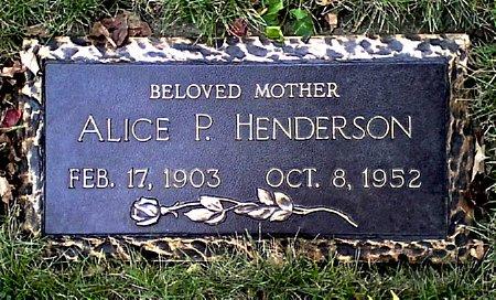 HENDERSON, ALICE P. - Black Hawk County, Iowa   ALICE P. HENDERSON