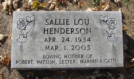HENDERSON, SALLIE LOU - Black Hawk County, Iowa | SALLIE LOU HENDERSON