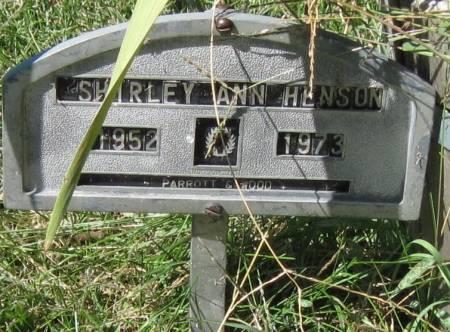 HENSON, SHIRLEY ANN - Black Hawk County, Iowa   SHIRLEY ANN HENSON