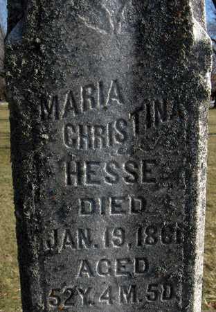 HESSE, MARIA CHRISTINA - Black Hawk County, Iowa | MARIA CHRISTINA HESSE